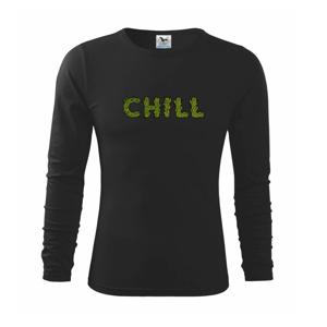 Konope nápis chill - Tričko detské Long Sleeve