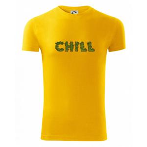 Konope nápis chill - Viper FIT pánske tričko