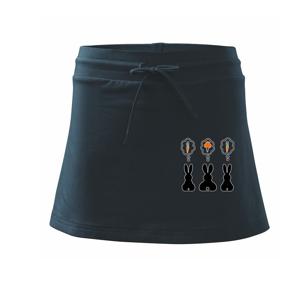 Králici premýšľajú, čo by zožrali - Športová sukne - two in one