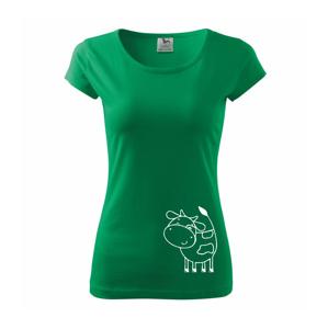Krava veselá - Pure dámske tričko