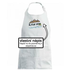 Kreslené hory - vlastné nápis - Detská zástera na varenie