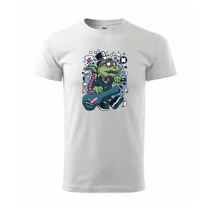 Krokodíl s gitarou - Heavy new - tričko pánske