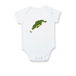 Krokodíl zelený s kačičkou - Dojčenské body
