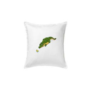 Krokodíl zelený s kačičkou - Vankúš 50x50