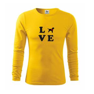 Labrador love - Tričko s dlhým rukávom FIT-T long sleeve