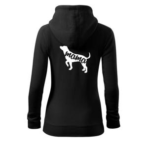 Labradorský retriever mama obrys - Mikina dámska trendy zipper s kapucňou
