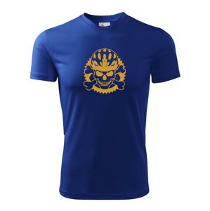 Lebka cyklista - prilba zlatá  - Detské tričko fantasy športové tričko