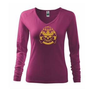 Lebka cyklista - prilba zlatá  - Tričko dámske Elegance