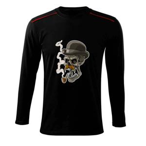 Lebka s fúzikmi - Tričko s dlhým rukávom Long Sleeve