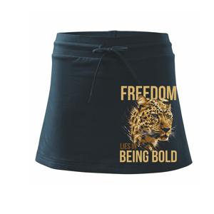 Leopard bold - Športová sukne - two in one