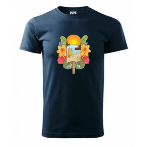 Leto, nanuk, more, pláž - Tričko Basic Extra veľké