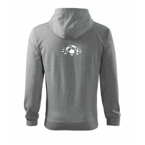 Liga majstrov lopta - Mikina s kapucňou na zips trendy zipper