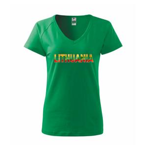 Lithuania - nápis vlajka - Tričko dámske Dream
