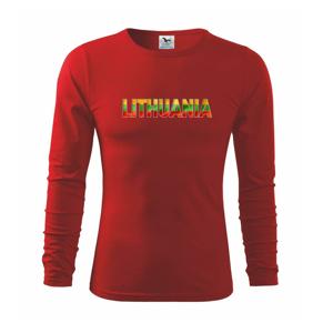 Lithuania - nápis vlajka - Tričko detské Long Sleeve