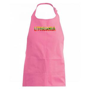 Lithuania - nápis vlajka - Zástěra na vaření