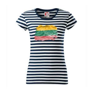 Litva vlajka rozpitá - Sailor dámske tričko