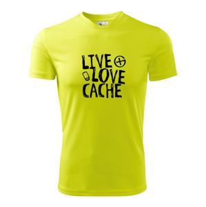 Live love cache - Pánske tričko Fantasy športové