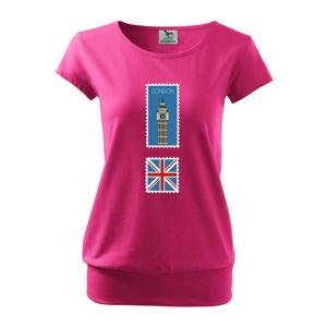 Londýn známka farebná - Voľné tričko city