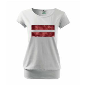 Lotyšsko vlajka stará - Voľné tričko city