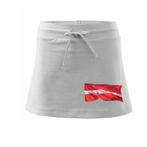 Lotyšsko vlajka vlajúce - Športová sukne - two in one