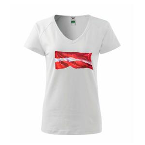 Lotyšsko vlajka vlajúce - Tričko dámske Dream