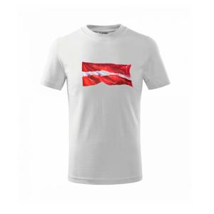 Lotyšsko vlajka vlajúce - Tričko detské basic