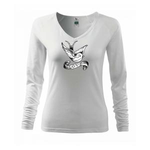 Love holubica - kreslená - Tričko dámske Elegance