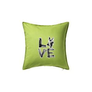 LOVE - Nemecký ovčiak - Vankúš 50x50
