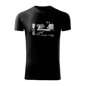 Lovec a stavač v lese - Viper FIT pánske tričko