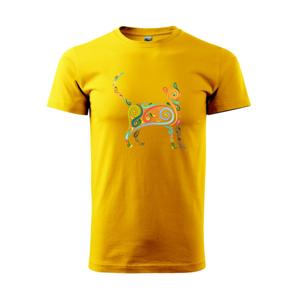 Mačka farebné krivky - Heavy new - tričko pánske