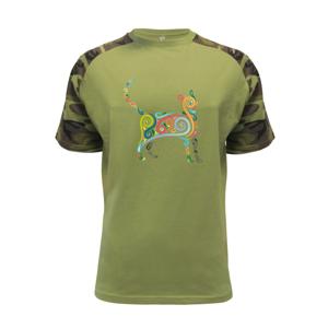 Mačka farebné krivky - Raglan Military