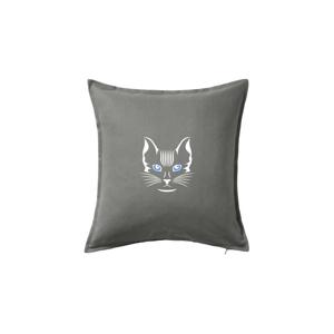 Mačka hlava skica - Vankúš 50x50