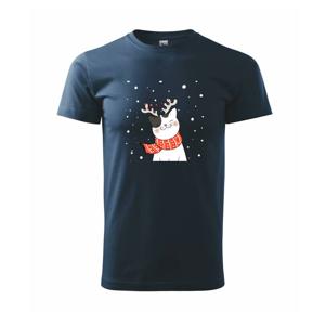 Mačka sa sobími rohmi - Tričko Basic Extra veľké
