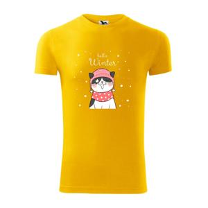 Mačka v čiapke s vystrčeným jazykom - Viper FIT pánske tričko