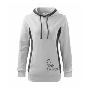 Mačkopes - Mikina dámska Kangaroo s kapucňou