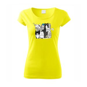 Mačky, čo nie sú tak úplne veselé - Pure dámske tričko