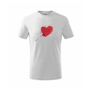Makeup srdce - Tričko detské basic
