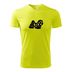 Maltézsky psík - Pánske tričko Fantasy športové