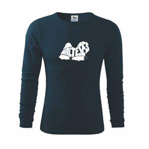 Maltézsky psík - Tričko s dlhým rukávom FIT-T long sleeve