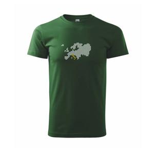 Mapa Európy - Taliansko - Tričko Basic Extra veľké