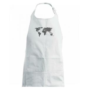 Mapa sveta odtlačok - Detská zástera na varenie