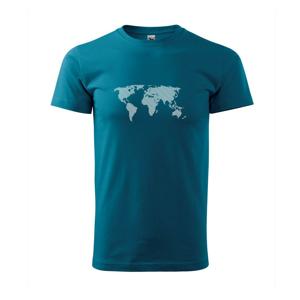 Mapa sveta odtlačok - Tričko Basic Extra veľké
