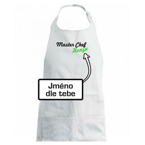 Master Chef - vlastné meno - Detská zástera na varenie