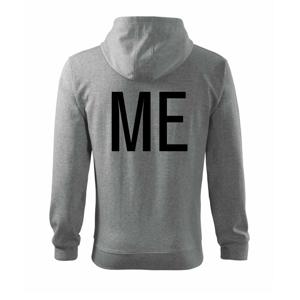 Me / mini me tlačiarenské - Mikina s kapucňou na zips trendy zipper
