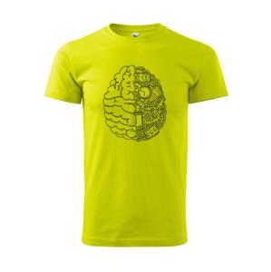 Mechanický mozog - Heavy new - tričko pánske