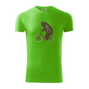 Medveď na bicykli - Viper FIT pánske tričko