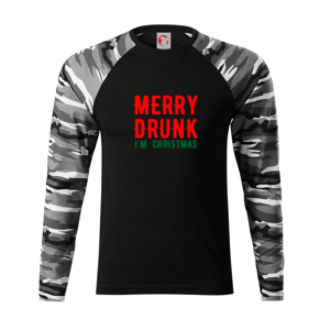 Merry Drunk I'm Christmas - Camouflage LS
