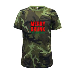 Merry Drunk I'm Christmas - Detské maskáčové tričko