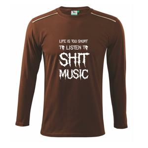 Metal font - listen music (Hana-creative) - Tričko s dlhým rukávom Long Sleeve