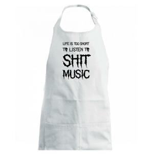 Metal font - listen music (Hana-creative) - Zástěra na vaření